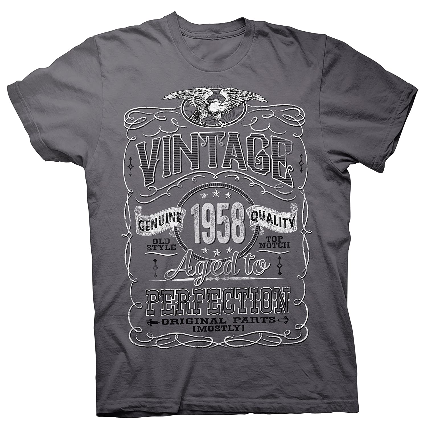 1e4ae1fad05 Top2  ShirtInvaders Vintage Aged Perfection 1958 - Distressed Print - 60th  Birthday Gift T-Shirt. Wholesale Price 22.00 -  30.00. A GREAT GIFT IDEA