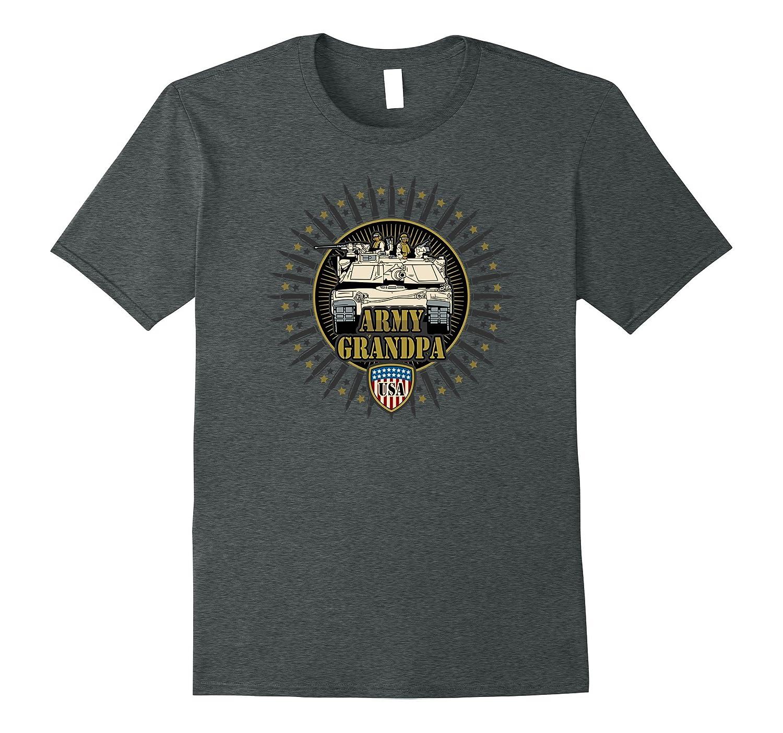 Mens Army Grandpa M1 Tank US Military T-shirts-CD