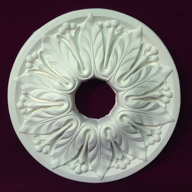 Acanthus Leaf Ceiling Rose Victorian Plaster 340mm Handmade CC0035 Cornice Direct