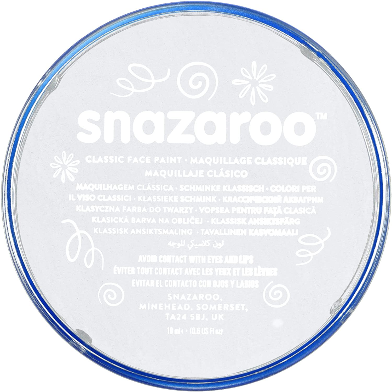 Snazaroo- Pintura facial y Corporal, 18 ml, Color blanco, 18ml (Colart 1118000): Amazon.es: Juguetes y juegos