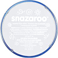 Snazaroo Pintura Facial, 18ml, Color Individual, Blanco, 1