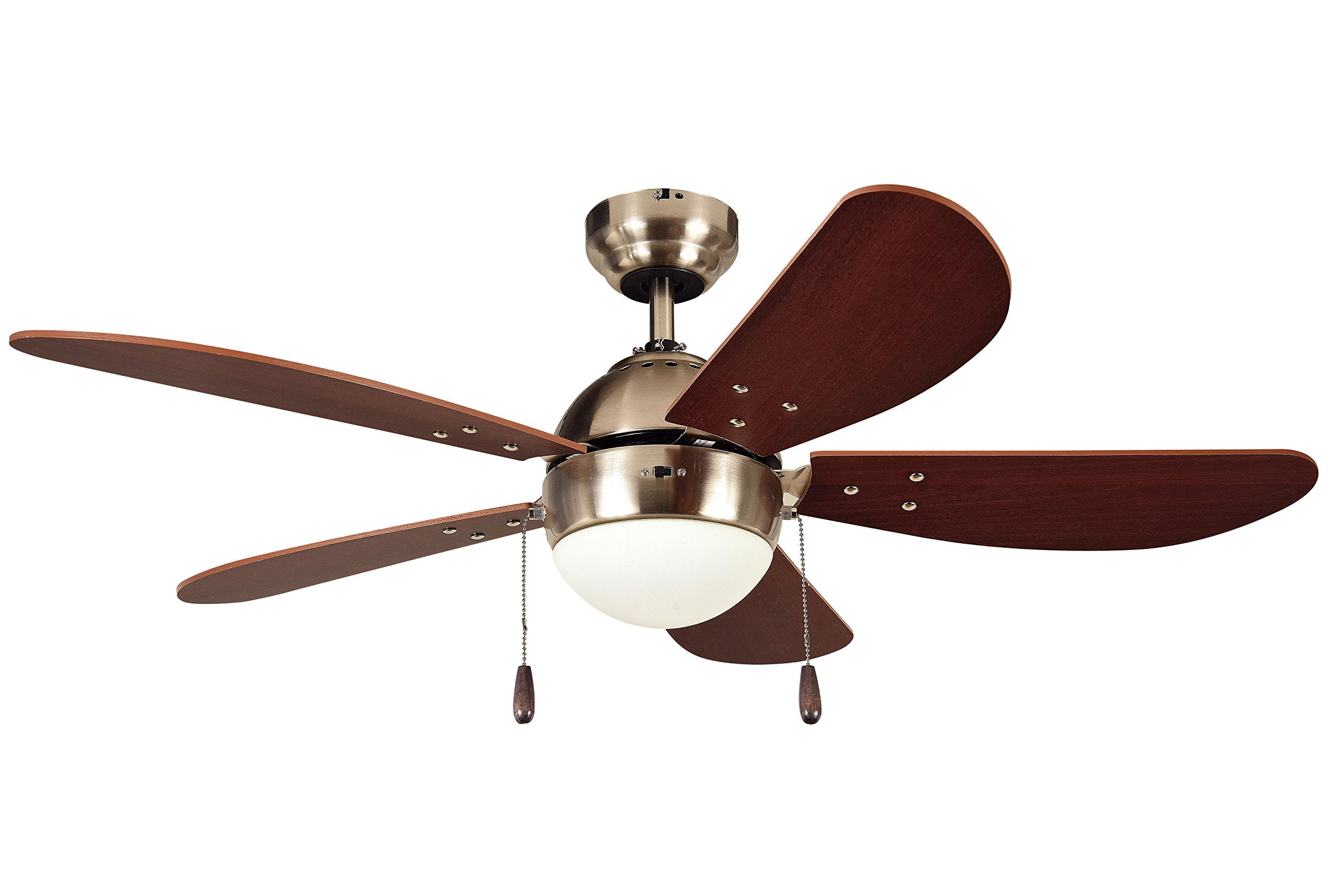Litex E-PB42SN5C PRESCOTT 42-Inch Satin Nickel Ceiling Fan