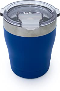 Tahoe Trails 10 oz Stainless Steel Tumbler Vacuum Insulated Double Wall Travel Cup With Lid, Royal blue