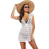 Balancora - Vestido de playa para mujer en forma de V y cuello en V