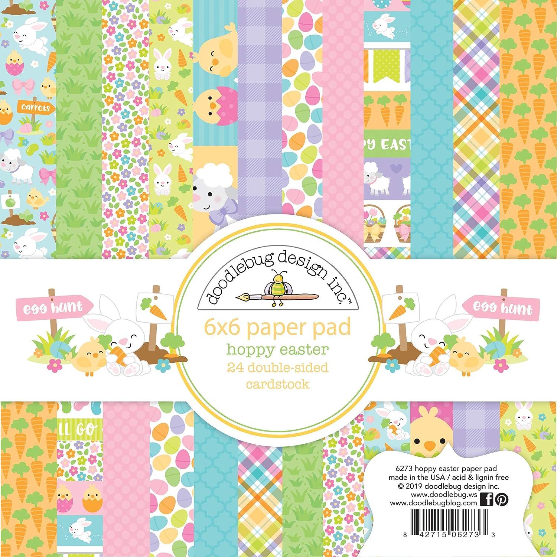 Blocco di carta motivo: Doodlebug 15 x 15 cm Hoppy Easter