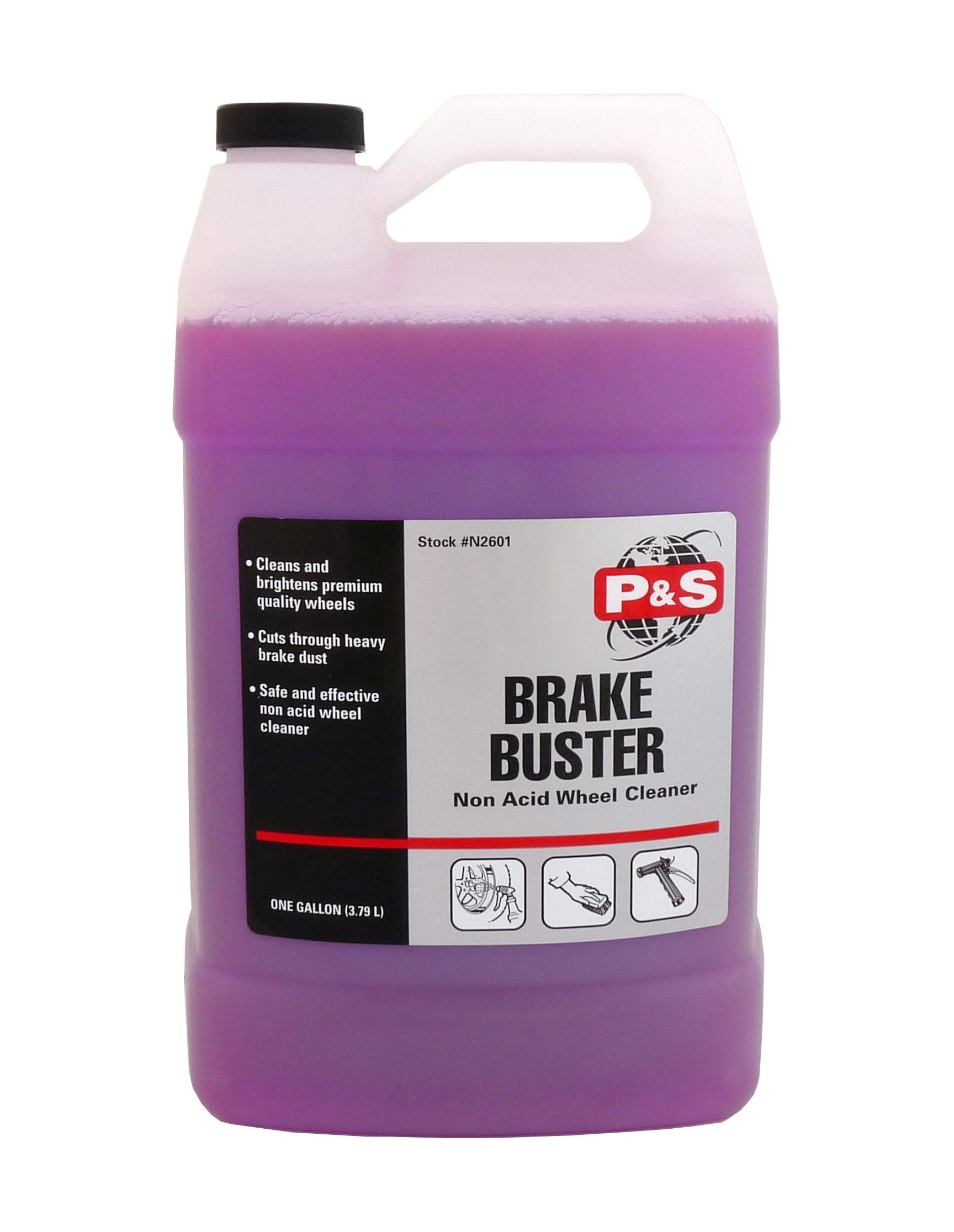 P&S Detailing Products RT40 - Brake Buster Non-Acid Wheel Cleaner ( 1 Gallon )
