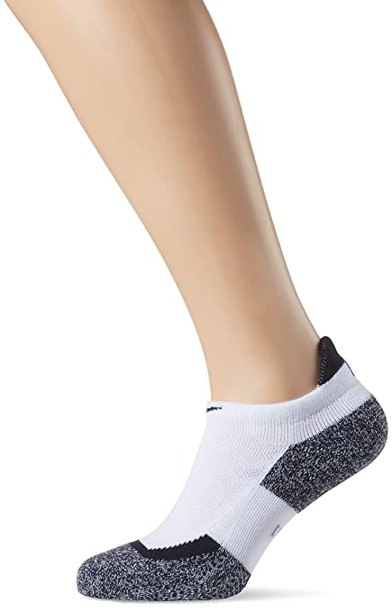 Nike No Show Socks Elite Tennis Calcetines, Unisex, Blanco, Negro, Small