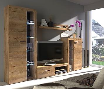 Erstaunlich Wohnwand DANCE Anbauwand Schrank Möbel Wohnzimmer Modernes Design Matt  Lefkas (Korpus: Lefkas / Front