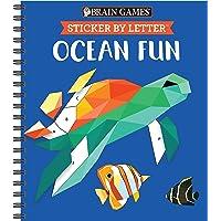 Brain Games - Sticker by Letter: Ocean Fun (Sticker Puzzles - Kids Activity Book)