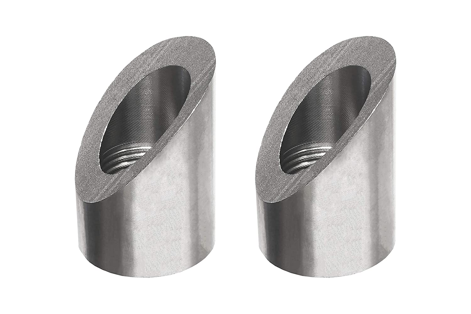 PitVisit Exhaust Weld Bungs Stainless Steel for Standard Size Bosch Style Lambda Wideband Oxygen Sensors Universal Weld-On Pack of 2 Notched