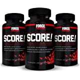 Force Factor Score! Nitric Oxide Booster with L-Citrulline Amino Acid, Improve Blood Flow, Increase Vascularity for Greater Muscle Pumps, Made in USA, (3-Pack)