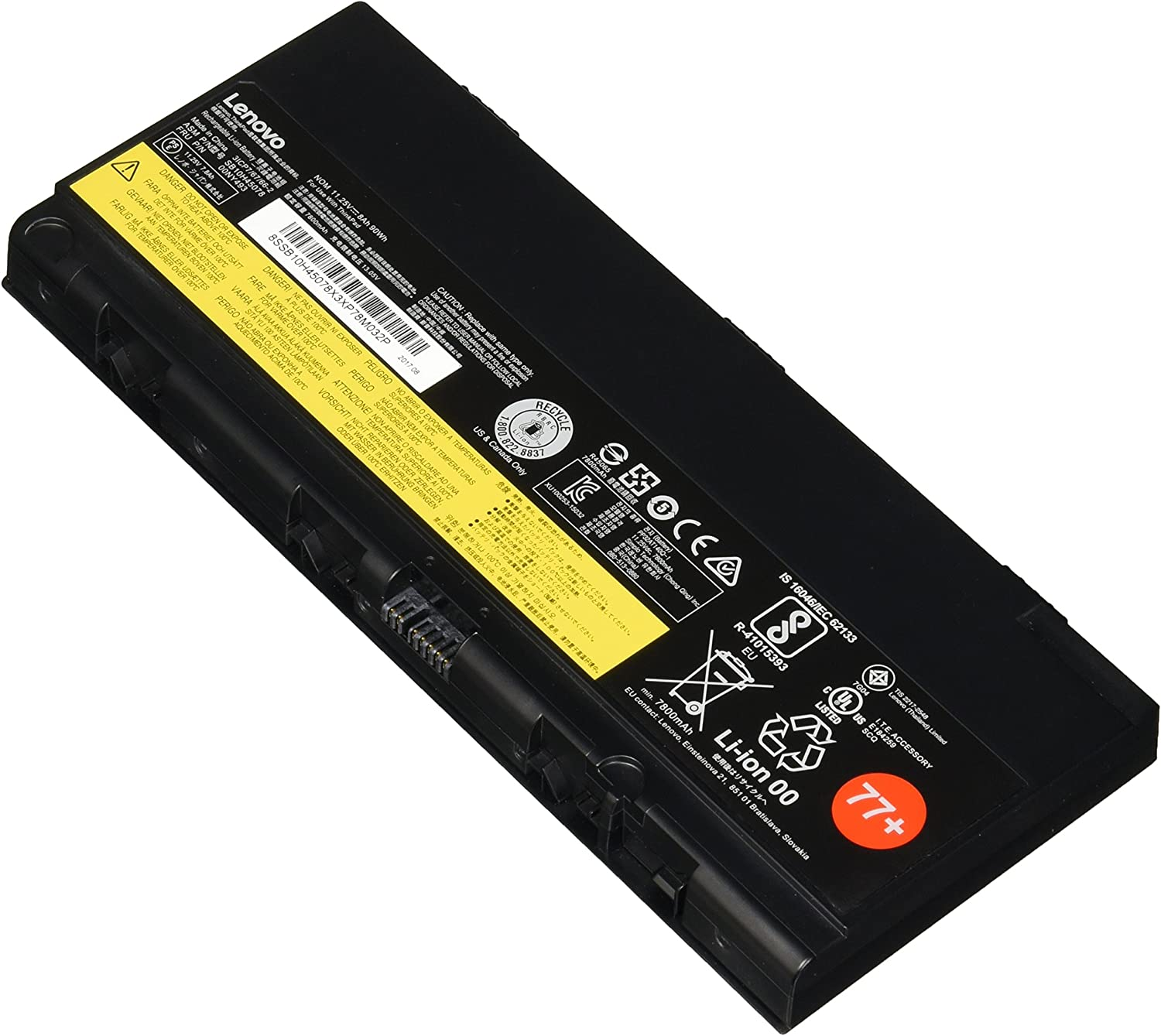 Lenovo 6 Cell Battery 77+ ( 4X50K14091 Retail Packaged And Sealed ) For P50 Only