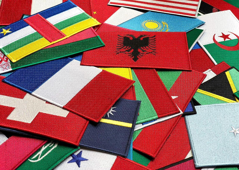 tama/ño grande para coser o planchar Parche bordado de bandera nacional de Seychelles