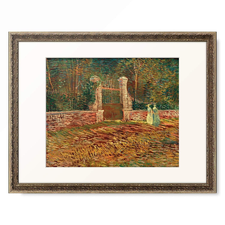 フィンセントファンゴッホ Vincent Willem van Gogh 「Entrance to park Voyer d'Argenson in Asnieres」 額装アート作品 B07PHJFCY7 09.装飾額 19mm(黒金) L(額内寸 509mm×394mm) L(額内寸 509mm×394mm)|09.装飾額 19mm(黒金)