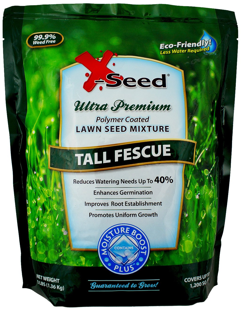 X-Seed Moisture Boost Plus Tall Fescue Lawn Seed Mixture, 3-Pound