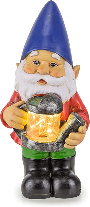 Gnome Solar Powered LED Outdoor Decor Garden Light, 6