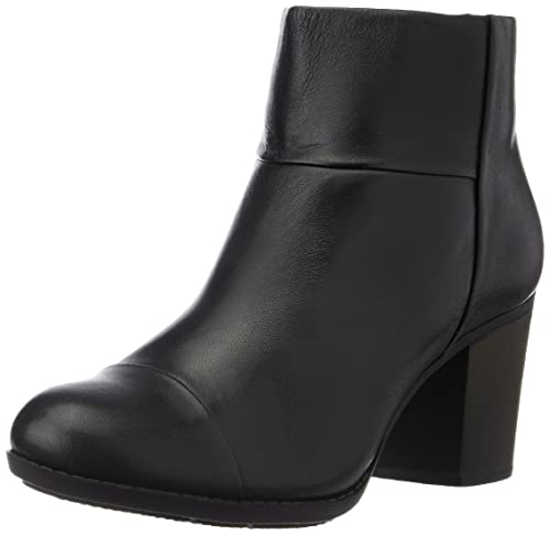 Clarks Women's Enfield Tess Cold Lined Classic Boots Short Length Black  Size: 5