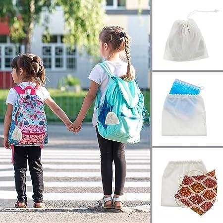 Bolsa para guardar la mascarilla, ideal tanto para adultos como para el colegio, fabricada en España.: Amazon.es: Hogar