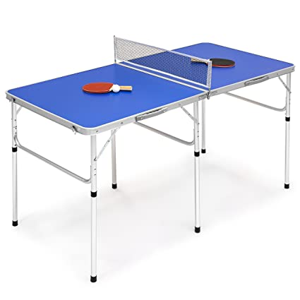 Merveilleux Best Choice Products Portable 60u0026quot; Ping Pong Folding Table Set W/Balls,  Paddles