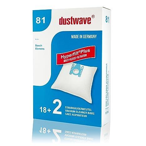 Pack de ahorro – 20 Bolsas para aspiradoras Bosch bsgl32225 Aspiradora GL de 30/dustwave® Marca Bolsa para el polvo/Fabricado en Alemania + Incluye 2 ...