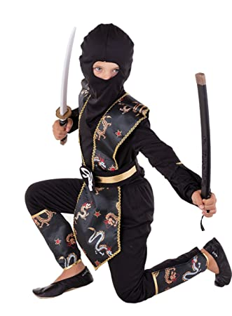 Dragon Ninja Disfraz infantil de oro negro Halloween ...