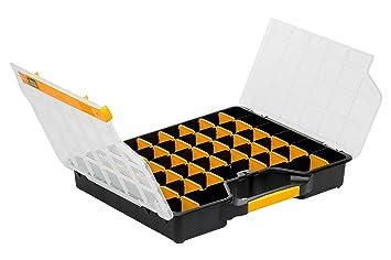 Allit 457430 Sortimentskasten Sortierkasten Schwarz Gelb Transparent 1 Stuck