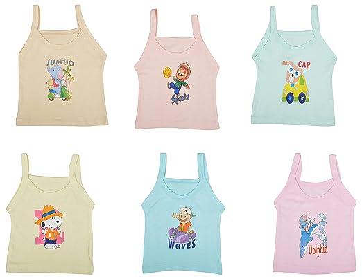 9c7eb26ce Kuchipoo Baby Girls  Regular Fit Cotton Vest (Pack of 6)(KUC-INN-916 ...
