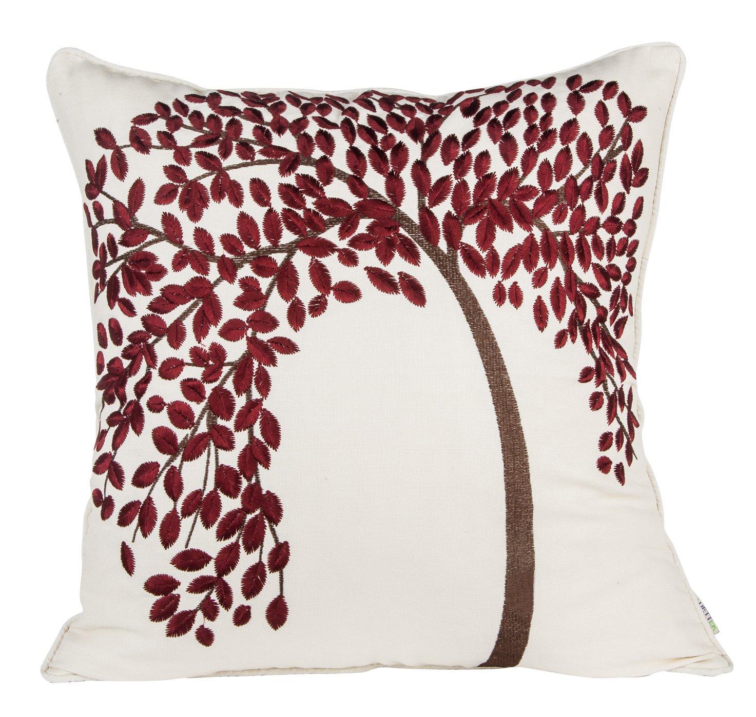 "Amazon BLUETTEK 18"" X 18"" Embroidered Cotton Linen"