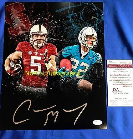f5e279619ba Christian Mccaffrey Autographed Signed 11x14 Photo Carolina Panthers  Stanford Memorabilia - JSA Authentic