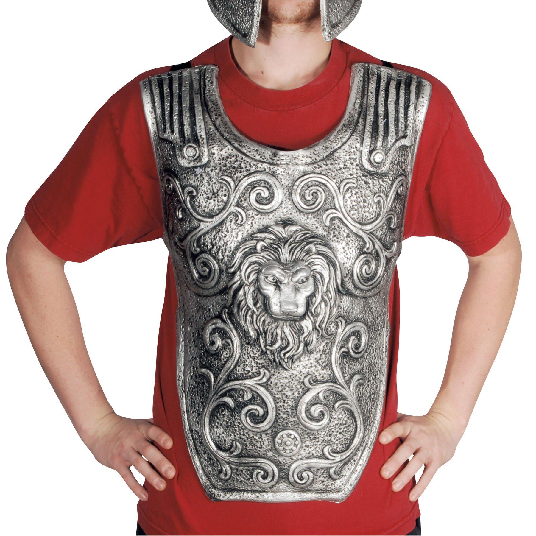 Loftus International Roman Legion Warrior Battle Chest Plate, Silver, One Size by Loftus International