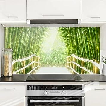 Bilderwelten Spritzschutz Glas - Bamboo Way - Quer 1: 2, Größe HxB ...