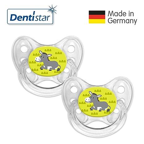 denti Star® Silicona Chupete (2 unidades, incluye 2 tapones - nuckel ...