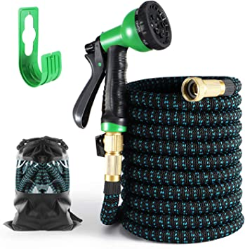 Upgraded Expandable Garden Hose 10 Function Spray Hose Nozzle 75 FT 3//4 Solid Brass Connectors Leak Proof and Lightweight Retractable Water Hose
