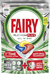 Fairy Platinum Plus Dishwasher Tablets Lemon, 45 Tablets