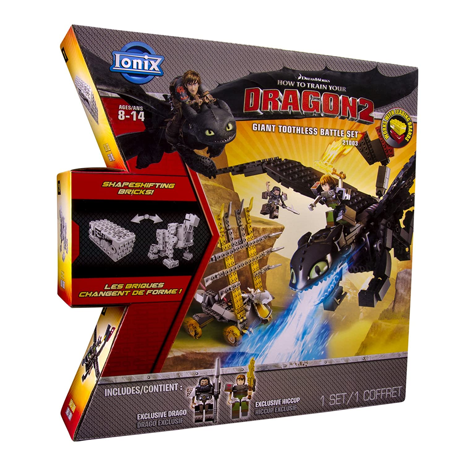 Amazon: Ionix: How To Train Your Dragon 2  Giant Toothless Battle Set:  Toys & Games