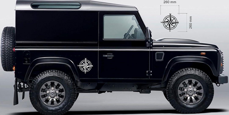 Pegatinas estilo brújula de navegación, para Land Rover 4x 4 Off Road, 2 unidades: Amazon.es: Coche y moto