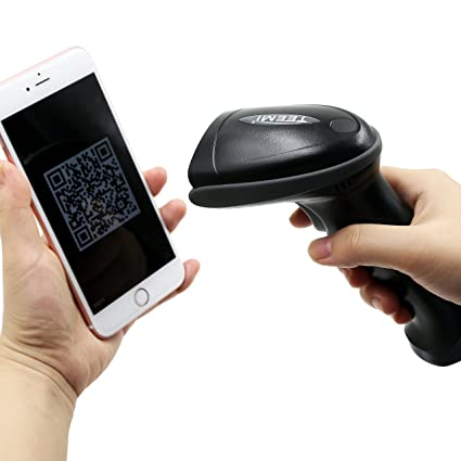 TEEMI 2D Wireless Barcode Scanner for iPhone iPad Android Devices (Barcode  Scanner only), Support QR, PDF417, datamatrix and Screen barcodes