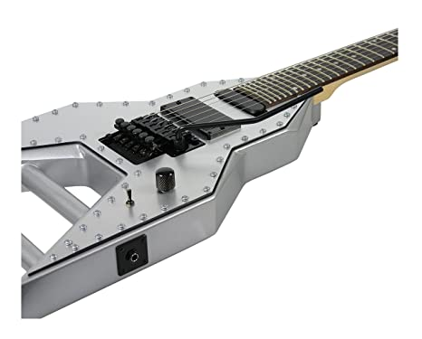 Dean Guitars MAB ROCKET Michael Angelo Batio Signature Electric Guitar - metálico de plata: Amazon.es: Instrumentos musicales