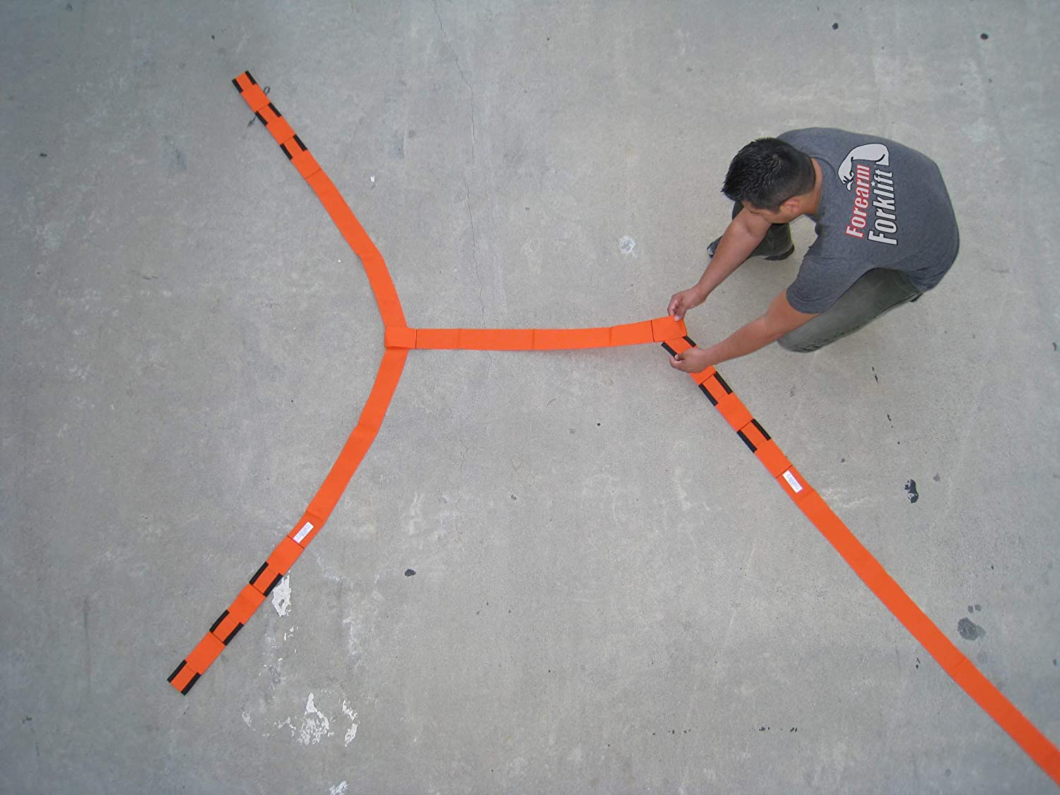 Forearm Forklift Extension for Use with Lifting Straps or Harness Adds an Additional 3.5 Feet Model EXT Orange