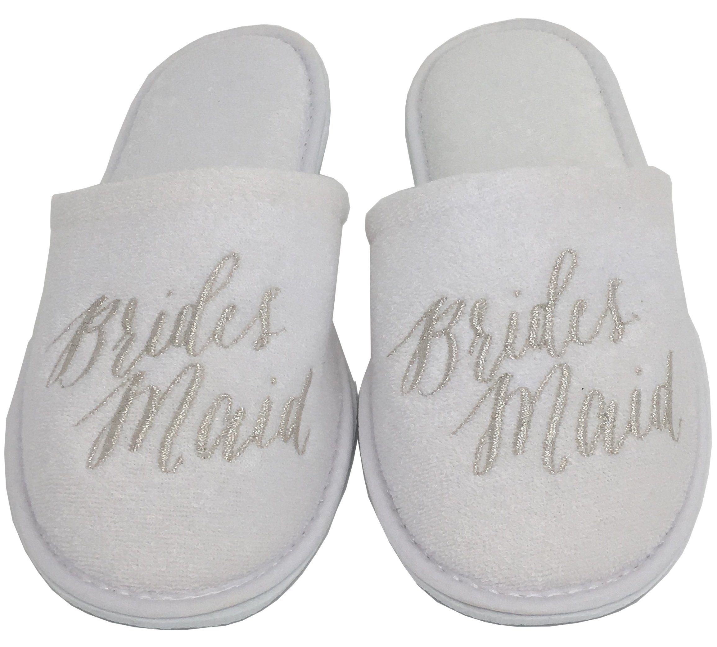 Personalized Slippers Wedding Slippers - (Medium (W6-8), Bridesmaid)