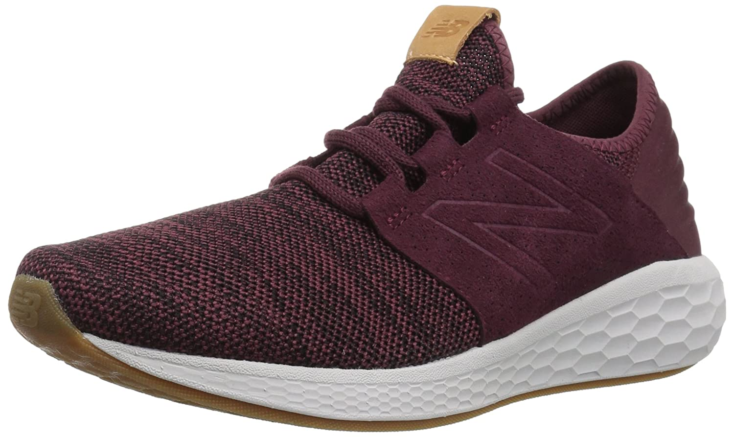 New Balance Fresh Foam Cruz V2 Knit, Zapatillas de Running para Hombre 42.5 EU|Rojo (Nb Burgundy/Black/Nimbus Cloud Km2)