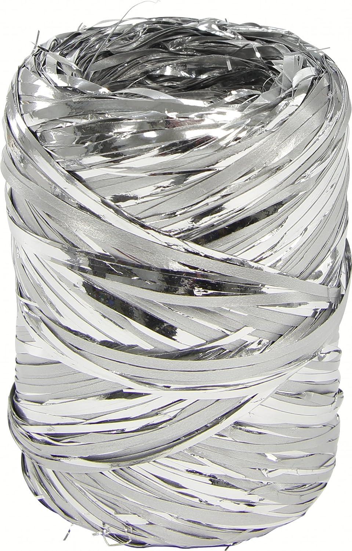 Clairefontaine 601876C Bobina di rafia metallizzato, 100m, colore argento 601876C