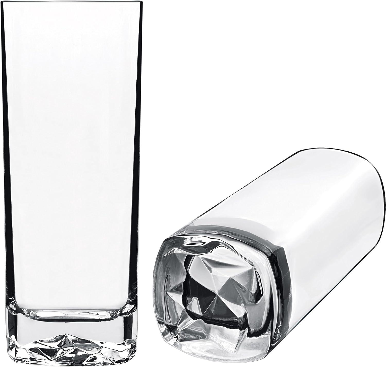 Luigi Bormioli On The Rocks 15 oz Beverage Drinking Glasses (Set Of 4), Clear