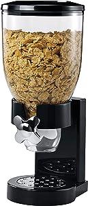 Honey-Can-Do Dry Food Dispenser, Single Control, Black/Chrome
