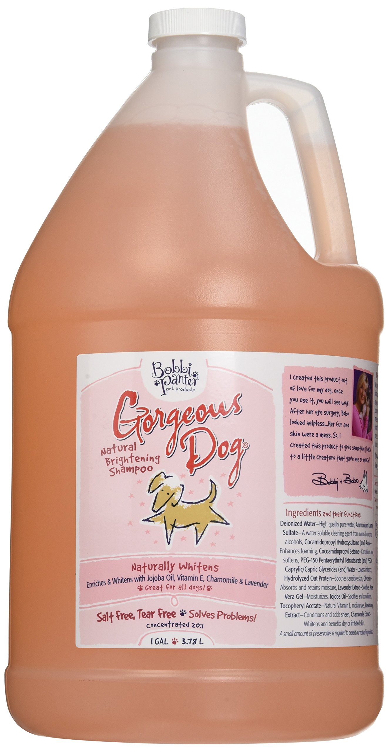 Bobbi Panter Pet Products Gorgeous Dog Shampoo, 1-Gallon