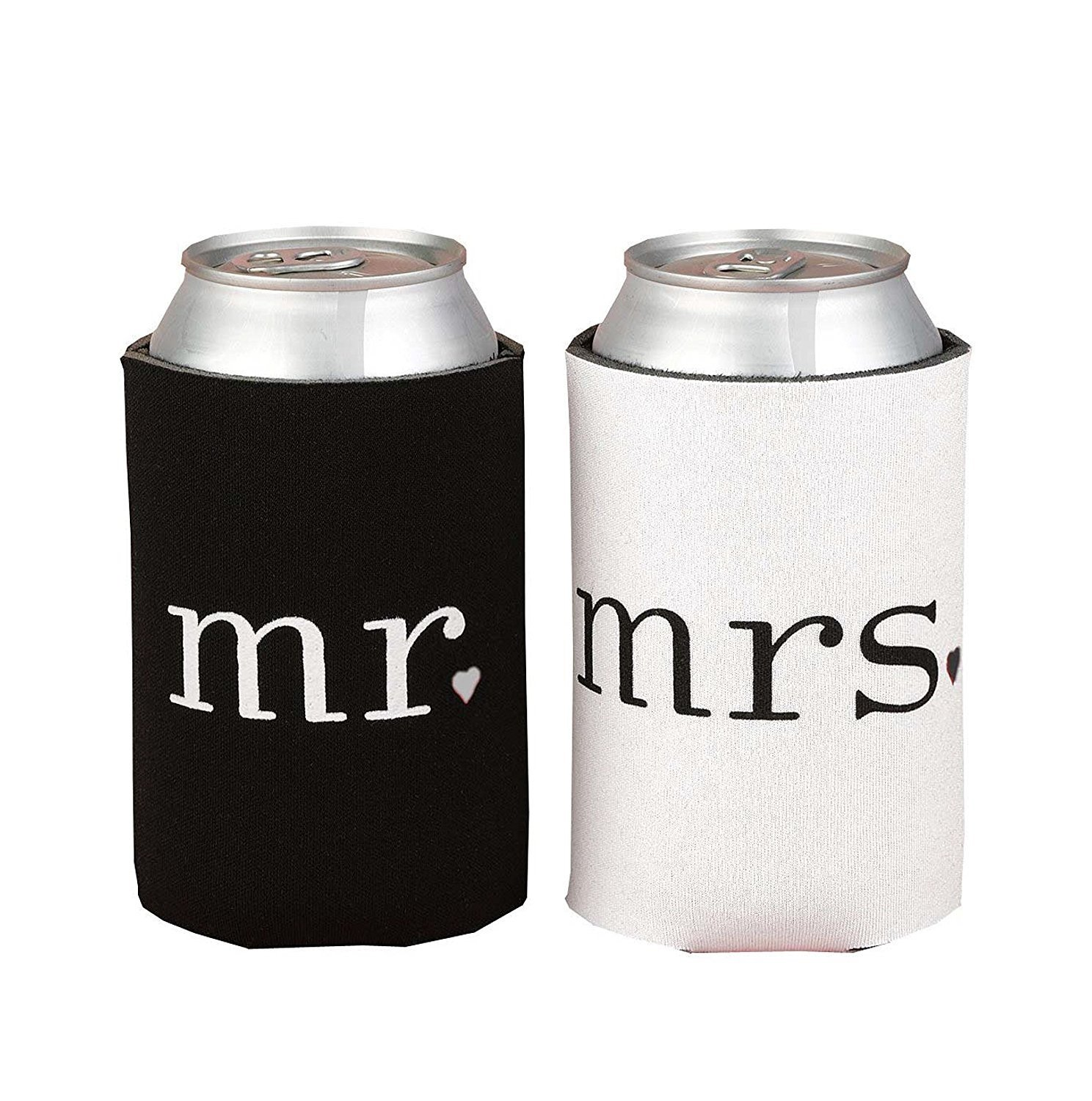 Amazon.com: Mr and Mrs Can Cooler Sleeve Set Groom and Bride ...