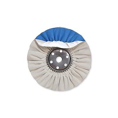 Zephyr AWW 58-8 SS White Blue Super Shine Buffing Wheel: Automotive