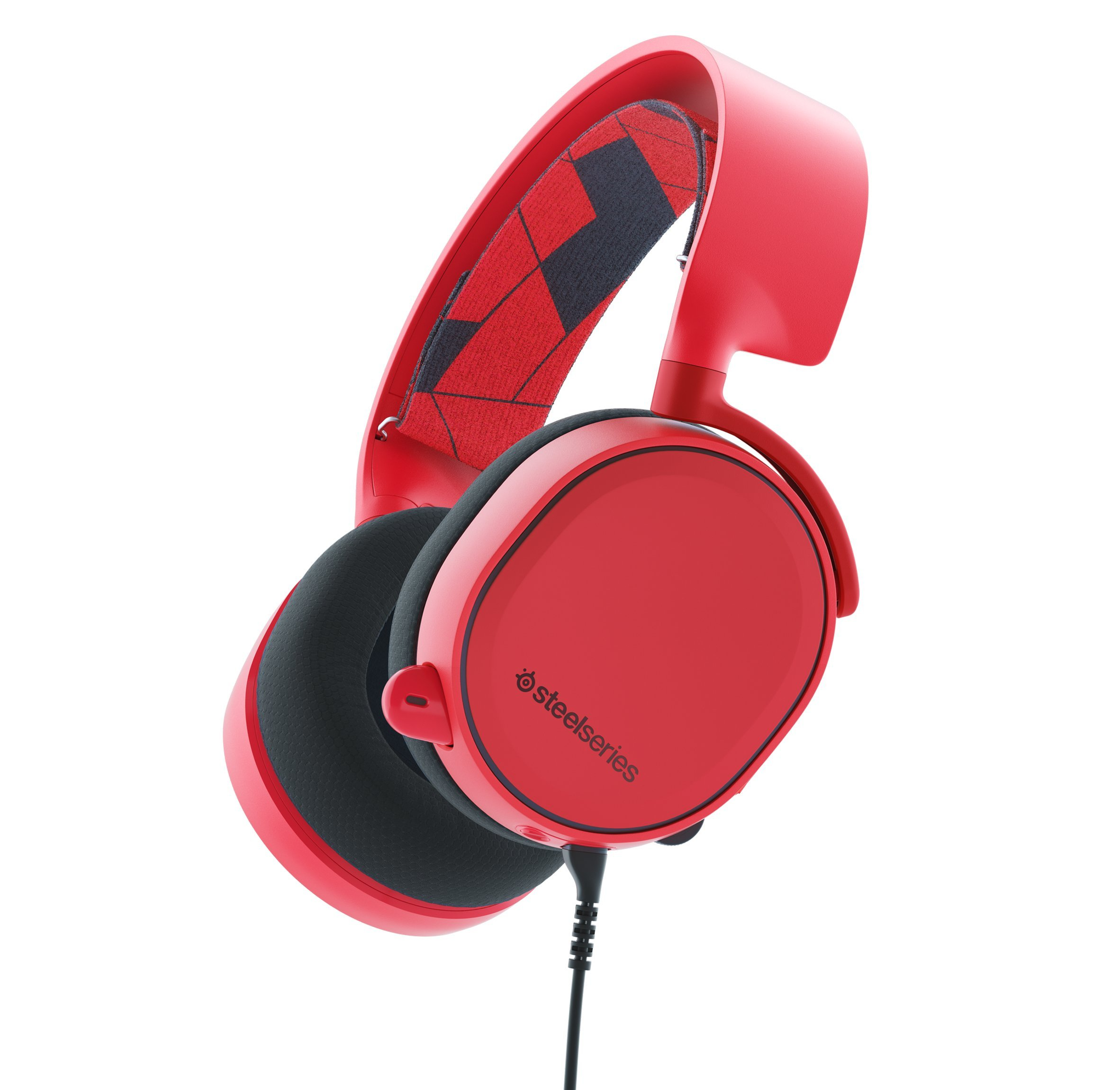 SteelSeries Arctis 3 All-Platform Gaming Headset for PC, PlayStation 4, Xbox One, Nintendo Switch, VR, Android and iOS - Solar Red by SteelSeries