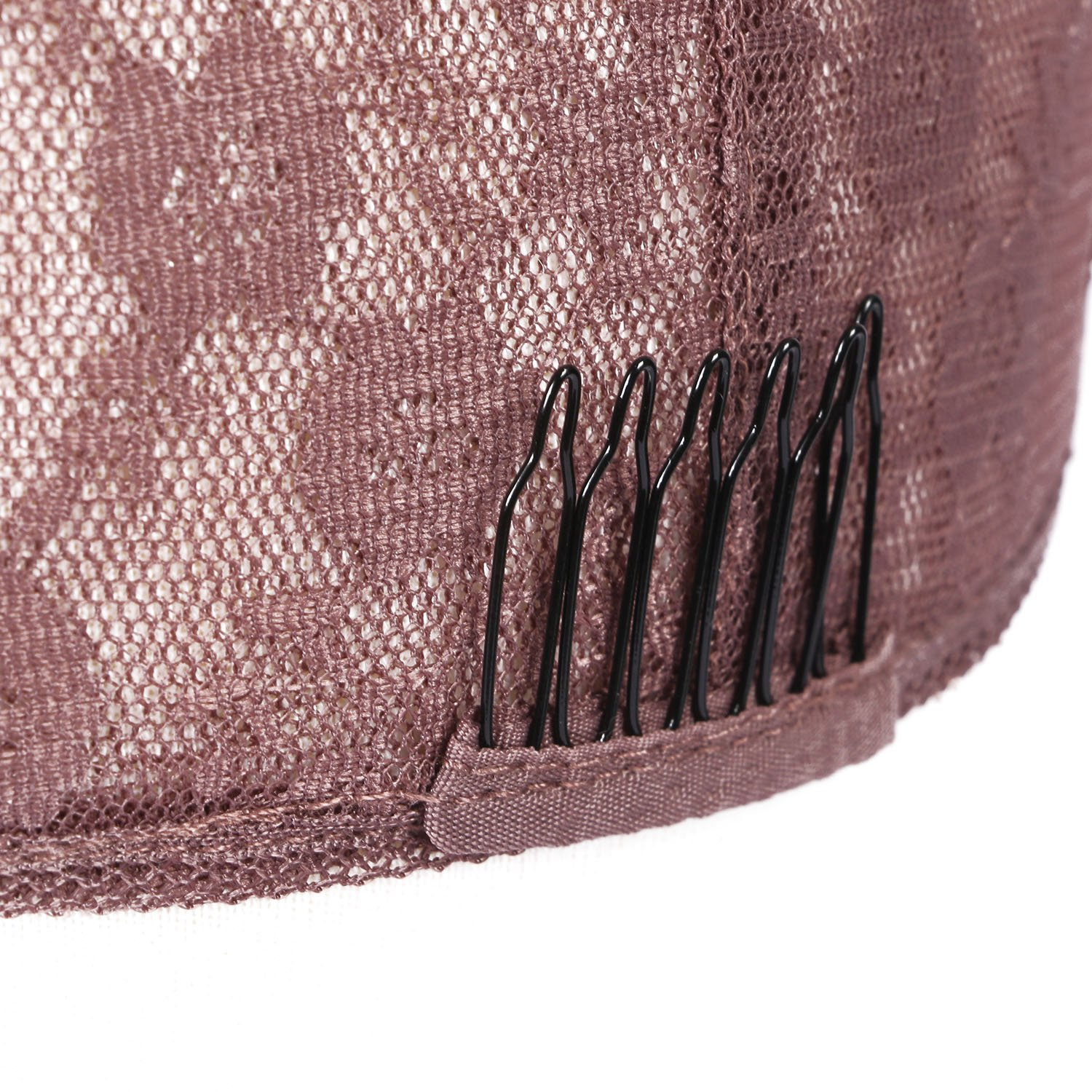G-EASY Double Lace Wig Caps For Making Wigs Hair Net with Adjustable Straps Swiss Lace Full Wig Medium Size Glueless (Large Cap, Medium Brown) by G-EASY (Image #4)