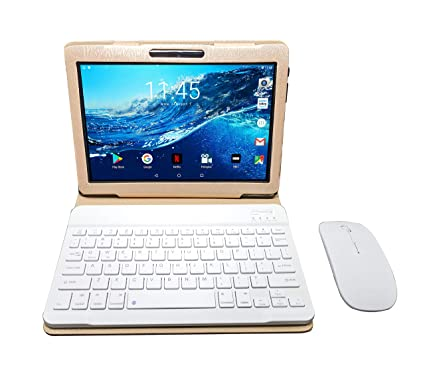 Tableta 10.1 Pulgadas 4G WiFi Tablets PC 3GB de RAM, 32GB de Memoria Interna con Android 7.0 Procesador Quad-Core y Doble Ranuras de Tarjeta SIM Doble ...